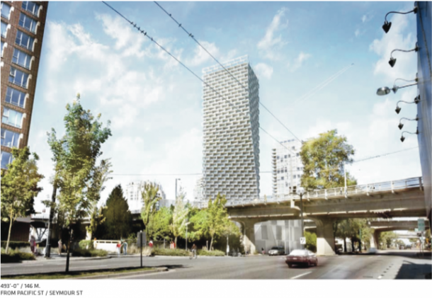 Beach and Howe Twisting Residential Tower in Vancouver