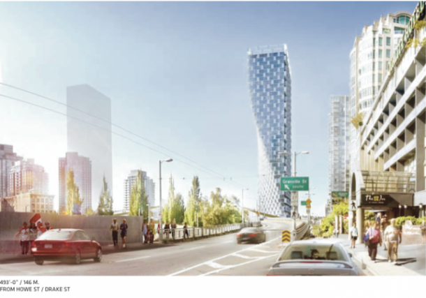 Beach and Howe Vancouver rendering