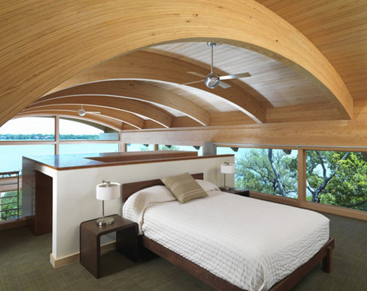 C Shaped House Design Bedroom