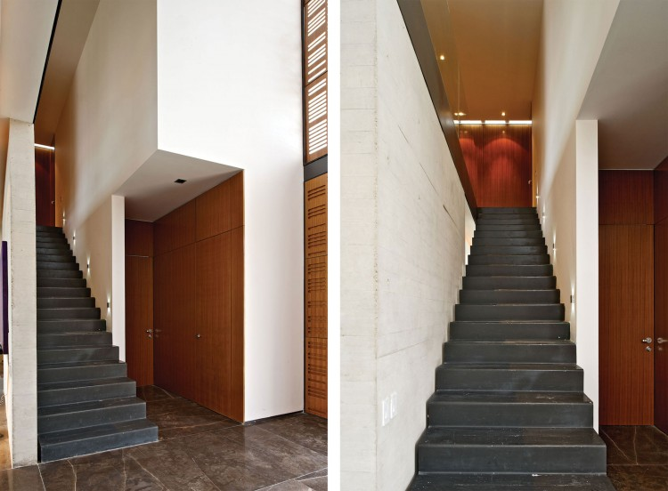 Inside Stairs at House X