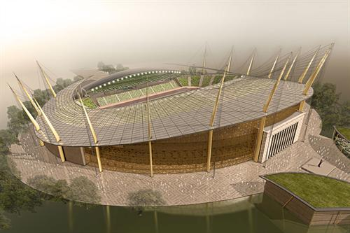 Beautiful 3d sports ground architecture photography