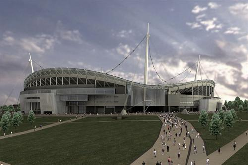 Sports 3D architecture photography