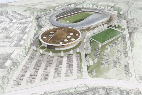 3d sports ground architecture