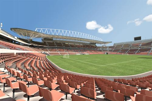 3d sports ground architectural view