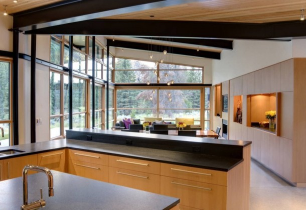 Interior design at River Bank House by Balance Associates Architects