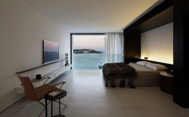 Luxury bedroom with ocean view