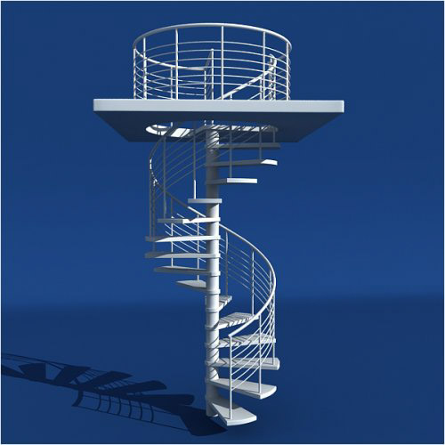 Model a Modern Spiral Staircase