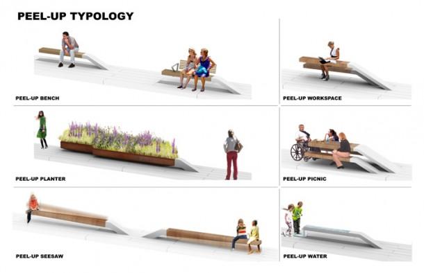 Peel-Up Design Elements