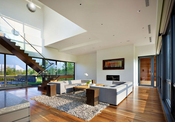Riverhouse Niagara modern interior living space