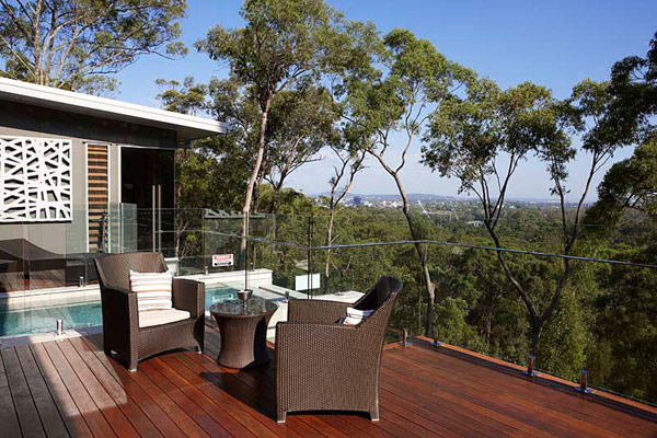 A beautiful view of Treetops house