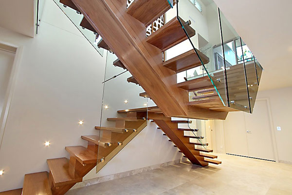 staircase in Treetops house