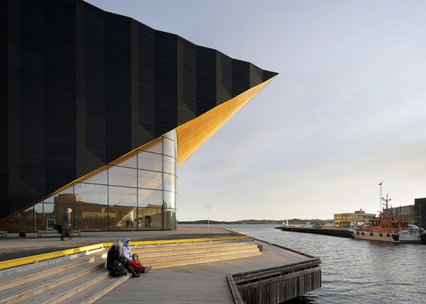 contemporary Kilden performing  arts centre by ALA Architects