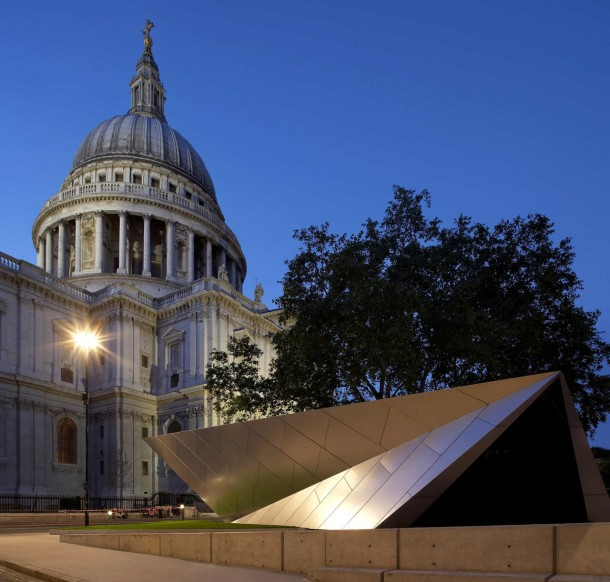 exciting view of Information Centre by Make Architects for City of London