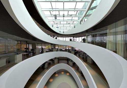 futuristic building design interior