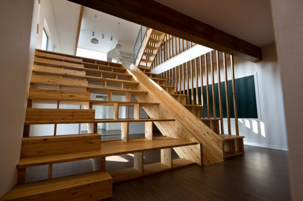 large staircase with slider Panorama House
