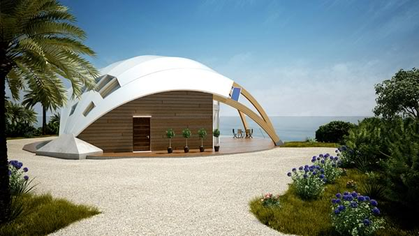 pearl shaped Beach house