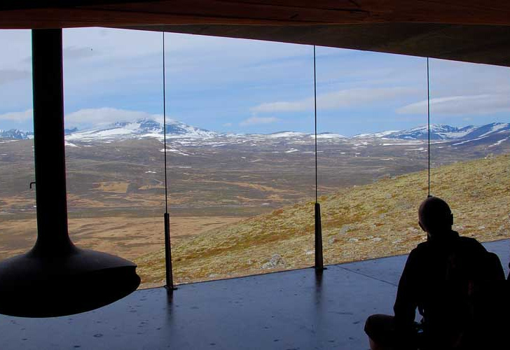 stunning view at Norwegian Wild Reindeer Centre Pavilion