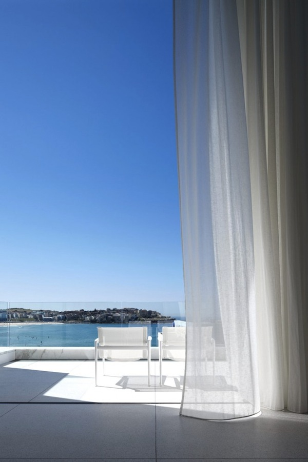 terrace overlooking Bondi beach
