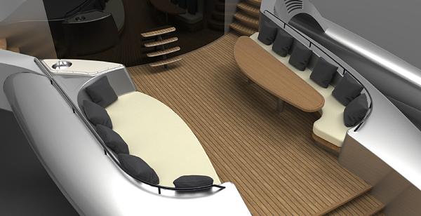 Adastra Yacht interior design