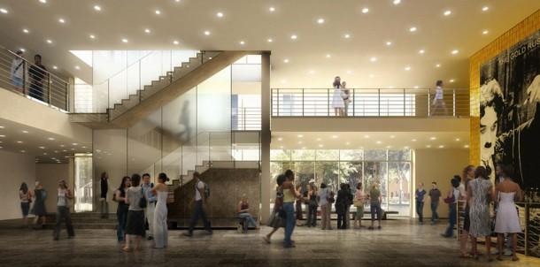 Interior design at Reva and David Logan Center for the Arts