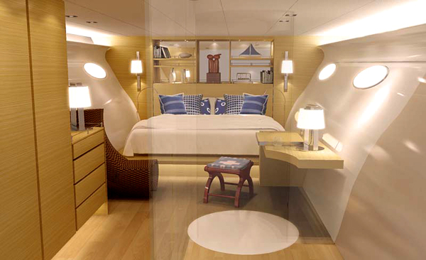 Luxury Bedroom Adastra Yacht