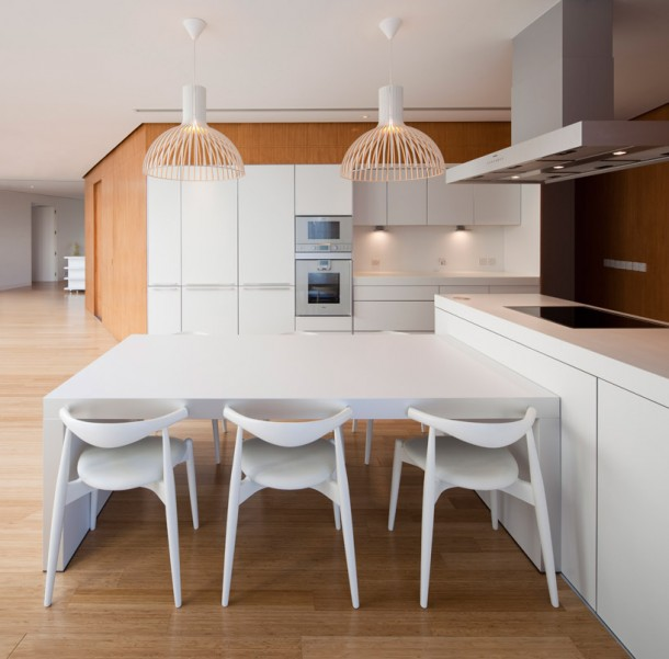 Modern kitchen design at Mop House by AGI Architects