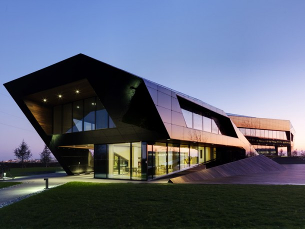Stunning view at Vidre Negre Office Building by Damilano Studio Architects
