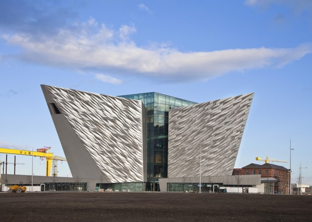 Titanic Belfast by CivicArts and Todd Architects outside view
