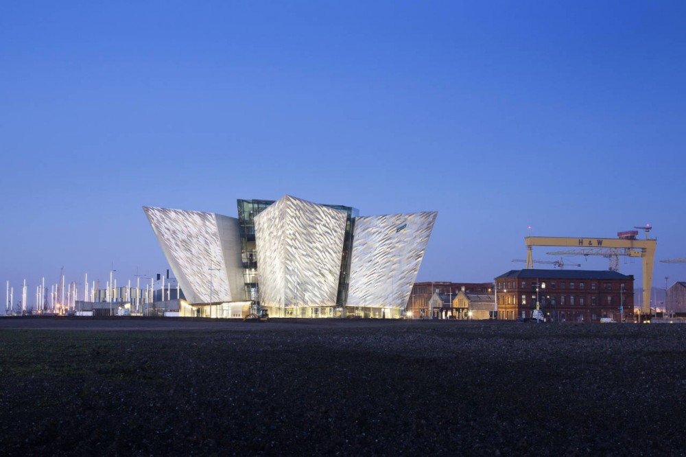 Titanic Belfast by Todd Architects night view