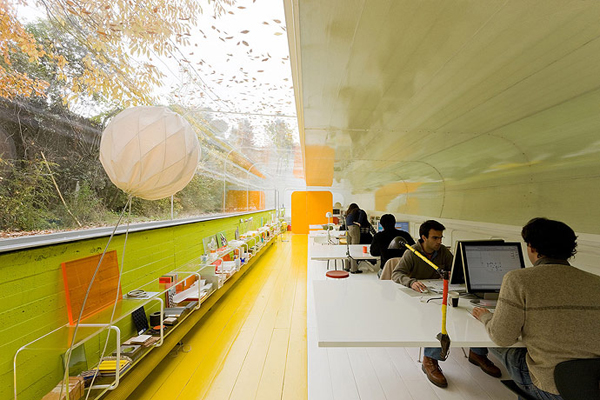 luxury interior design at Office in the Woods by Selgascano