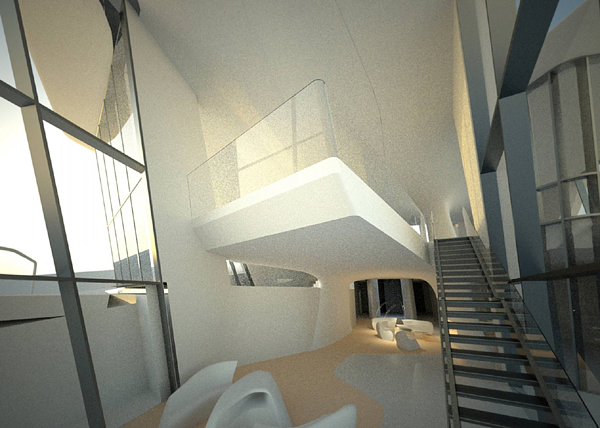 staircase design at  Capital Hill Residence