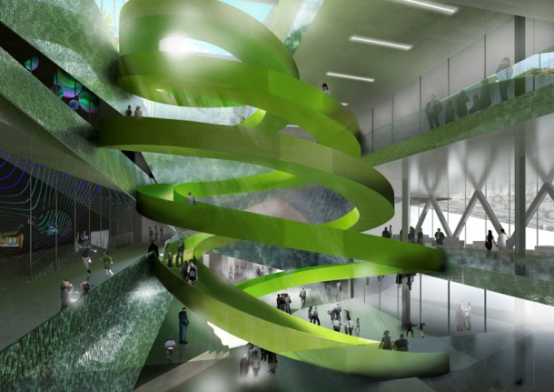 Atrium's double helix Stairway