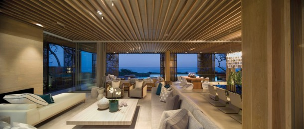 Combined Living Space at Dusk