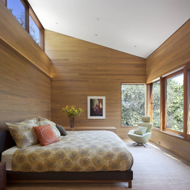 Bedroom of Kentfield Hillside Residence