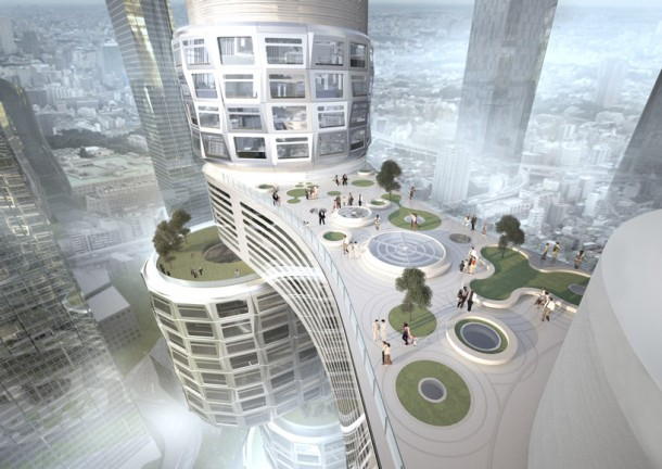 Bridge of Velo Towers By Asymptote Architecture