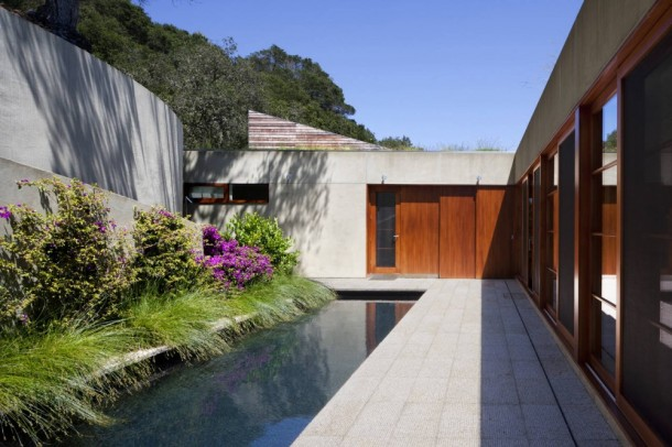 Pond of Kentfield Hillside Residence  Guest Room