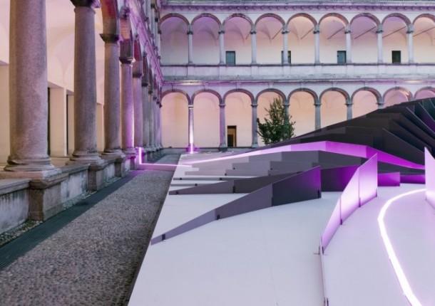 Rendering of courtyard